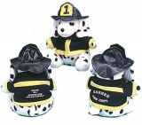 "9"" Dressed Firefighter Stuffed Animal Dalmatian Dogs (Custom)"